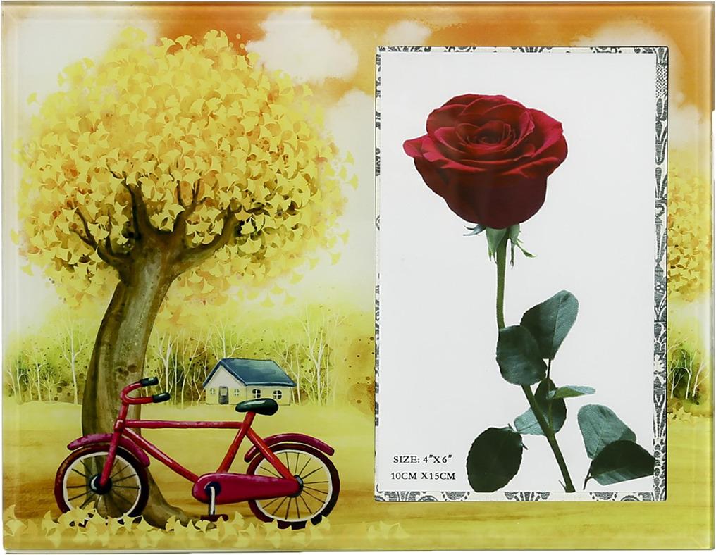 Фоторамка Велосипед в осеннем парке, 3719107, 22,5 х 17 х 1,5 см