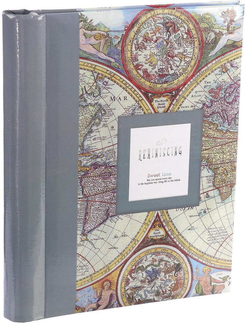 Фотоальбом Старинная карта, магнитный, 3217541, мультиколор, 20 листов, 25,5 х 20 х 2,8 см