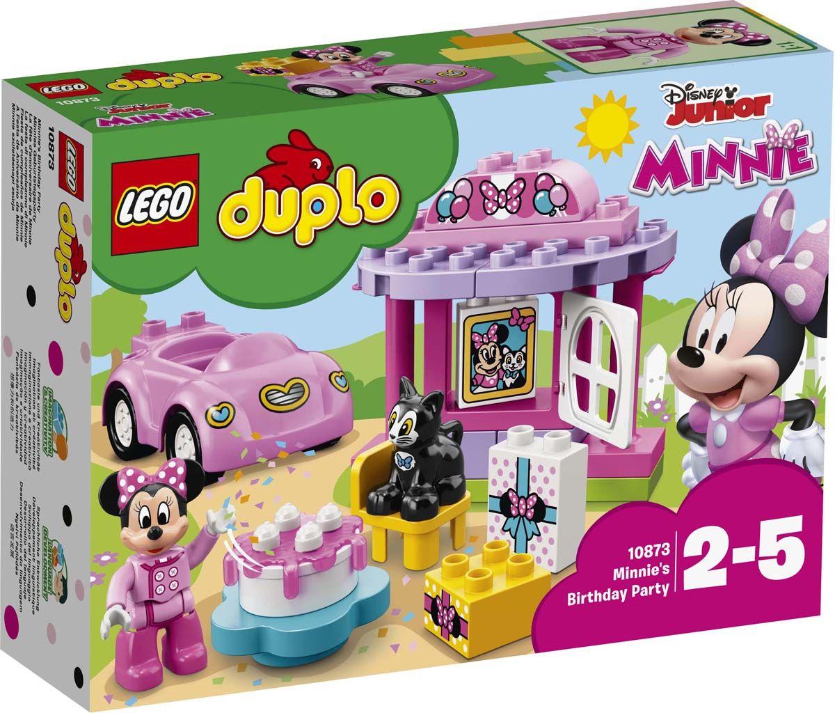 Пластиковый конструктор LEGO 10873 lego duplo lego 10873 день рождения минни
