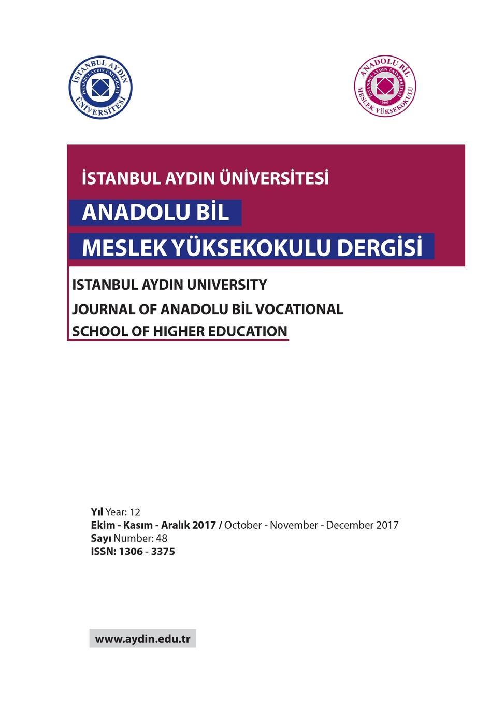 ISTANBUL AYDIN UNIVERSITESI. ANADOLU BIL MYO DERGISI ve b61 eu