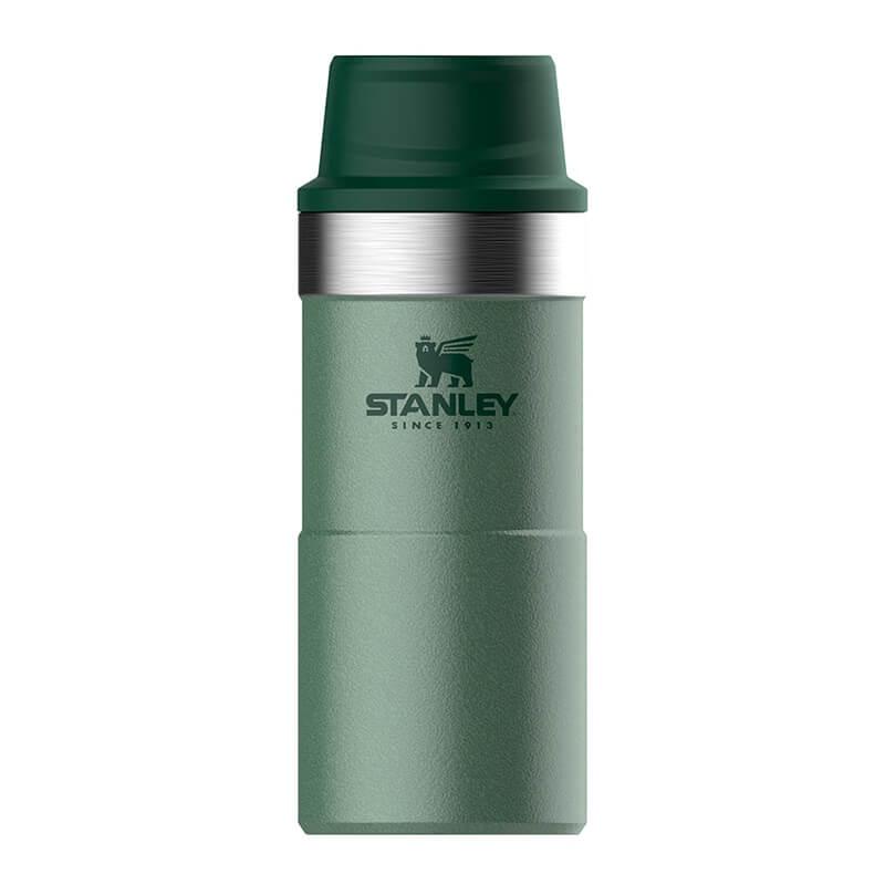 Термокружка Stanley Classic 0.35L One Hand 2.0 Vacuum Mug Hammertone Green, зеленый термокружка stanley classic mug 1 hand 0 47л темно зеленый