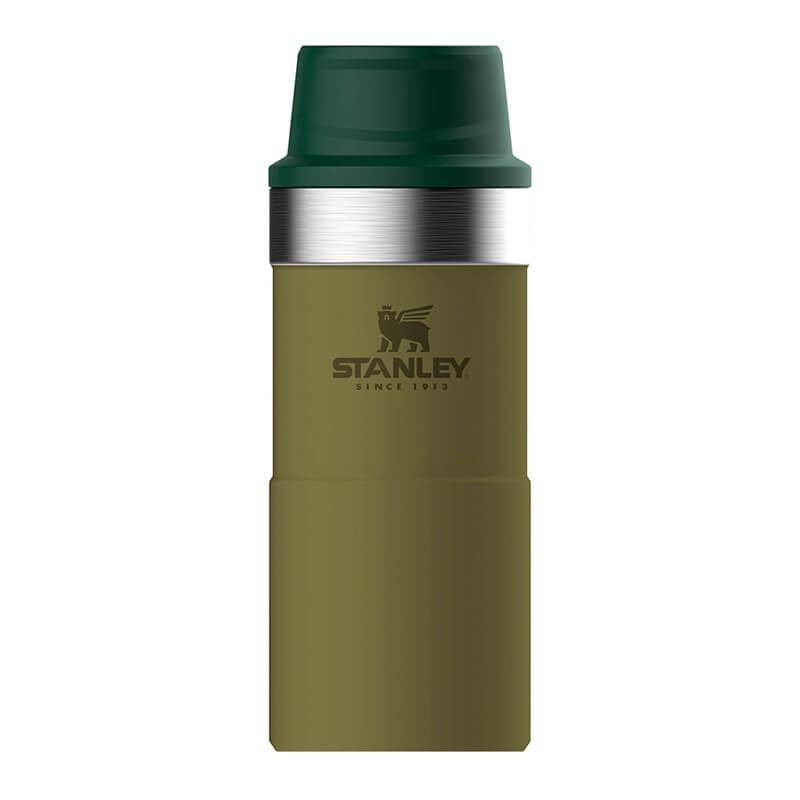 Термокружка Stanley Classic 0.35L One Hand 2.0 Vacuum Mug Olive, оливковый термокружка stanley classic mug 1 hand 0 47л темно зеленый