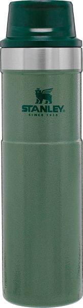 Термокружка Stanley Classic 0.47L One Hand 2.0 Vacuum Mug Hammertone Green, зеленый термокружка stanley classic mug 1 hand 0 47л темно зеленый