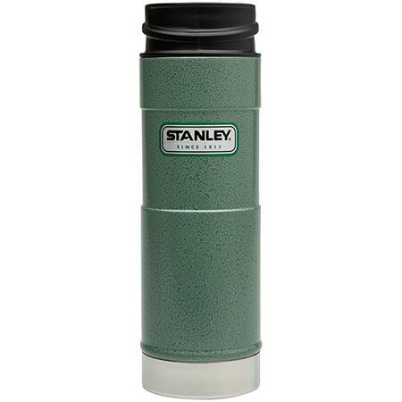 Термокружка Stanley Classic 0.47L One Hand Vacuum Mug Hammertone Green, зеленый термокружка stanley classic mug 1 hand 0 47л темно зеленый