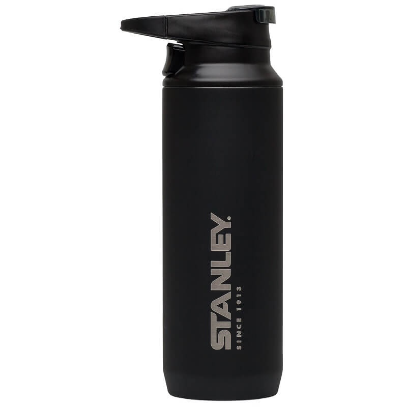 Термокружка Stanley Mountain 0.47L Vacuum Switchback Mug Matte Black, черный