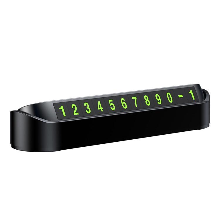 цена Автовизитка Baseus Tock Temporary Parking Number Card with Fluorescent, черный онлайн в 2017 году