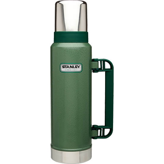 Термос Stanley Classic 1.3L Vacuum Bottle Hammertone Green, Нержавеющая сталь