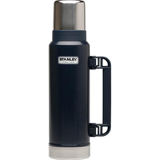 Термос Stanley Classic 1.3L Vacuum Bottle Hammertone Navy, Нержавеющая сталь
