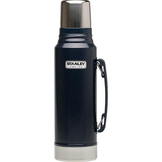 Термос Stanley Classic 1L Vacuum Bottle Hammertone Navy, Нержавеющая сталь