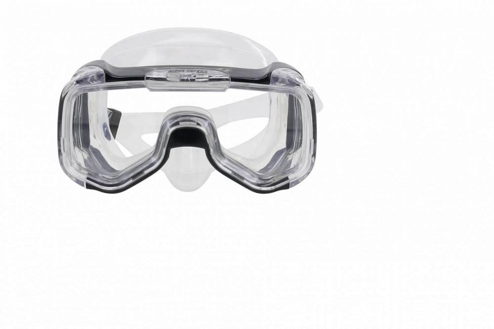 Маска для плавания Alpha Caprice M-1316, черный маска для плавания wave цвет черный m 1314