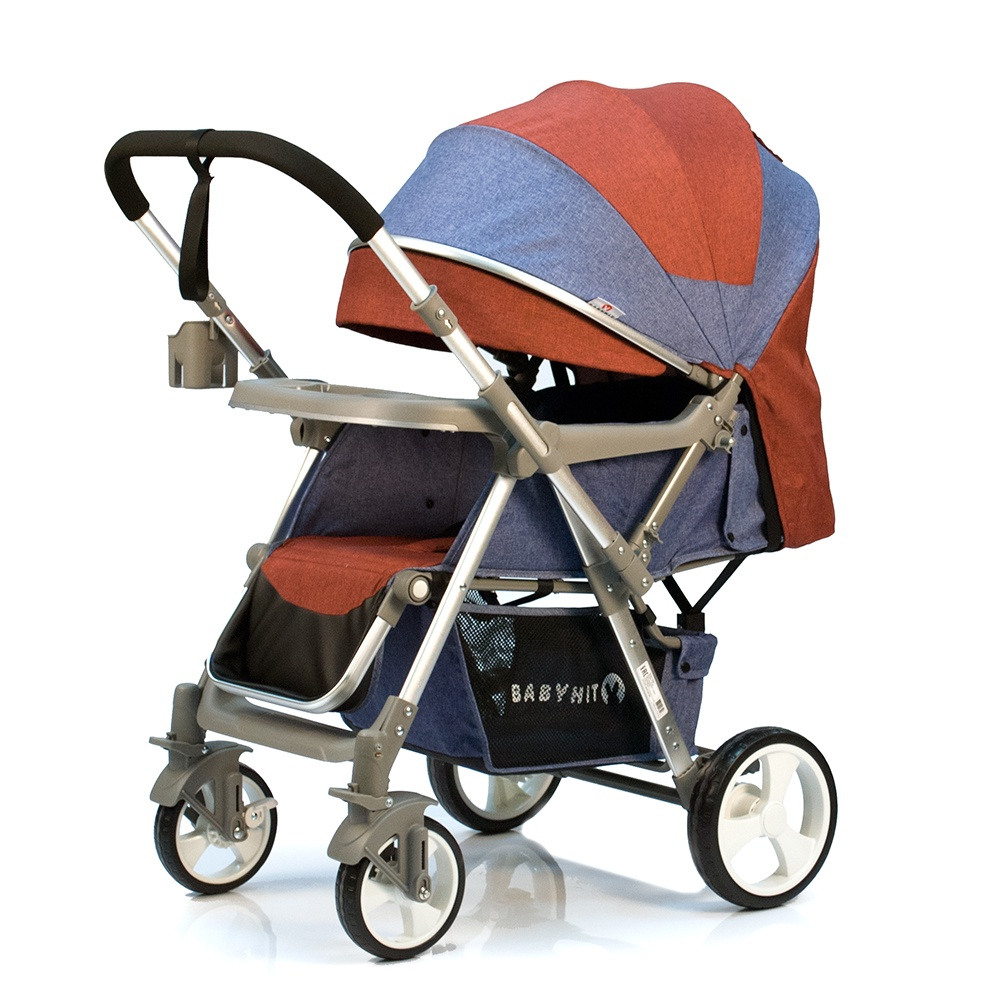 Коляска прогулочная Babyhit SENSE красный, темно-синий прогулочная коляска babyhit trinity orange strips