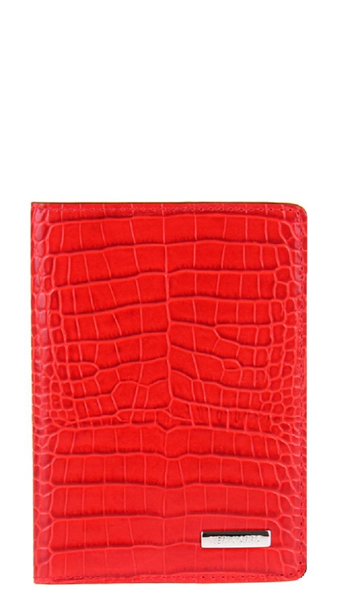 Обложка для паспорта Neri Karra .0107, красный обложка для паспорта женская neri karra цвет белый красный 01402 02 12 05