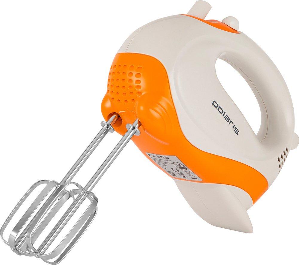 Миксер Polaris PHM 4026, белый, оранжевый hammer hs 4026