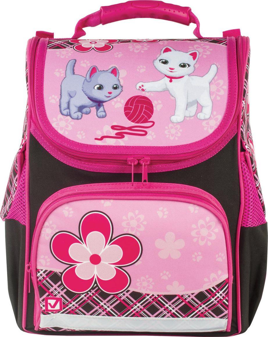 Ранец для девочки Brauberg Style Котята Хит!, розовый, 17 л