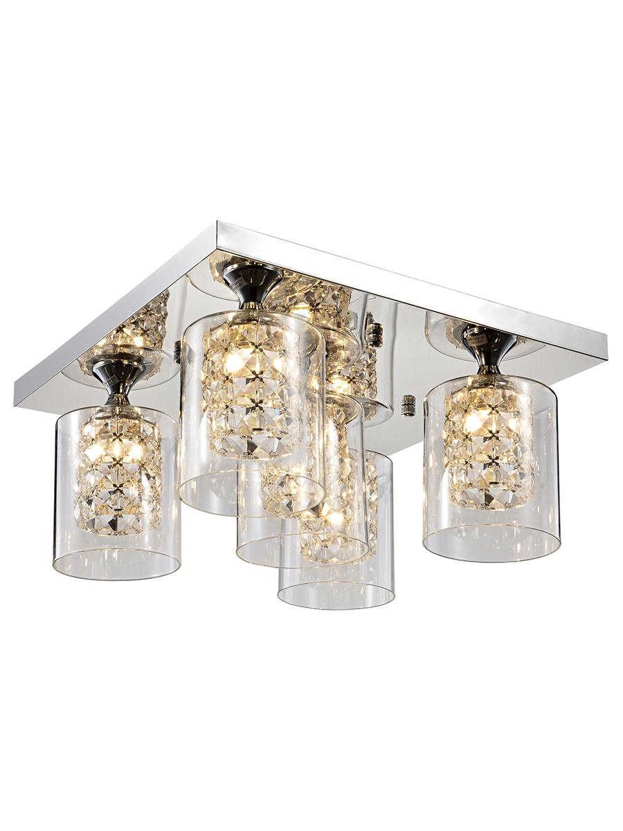 Потолочный светильник Лампландия Martin, серебристый потолочный светильник лампландия edmon светло серый