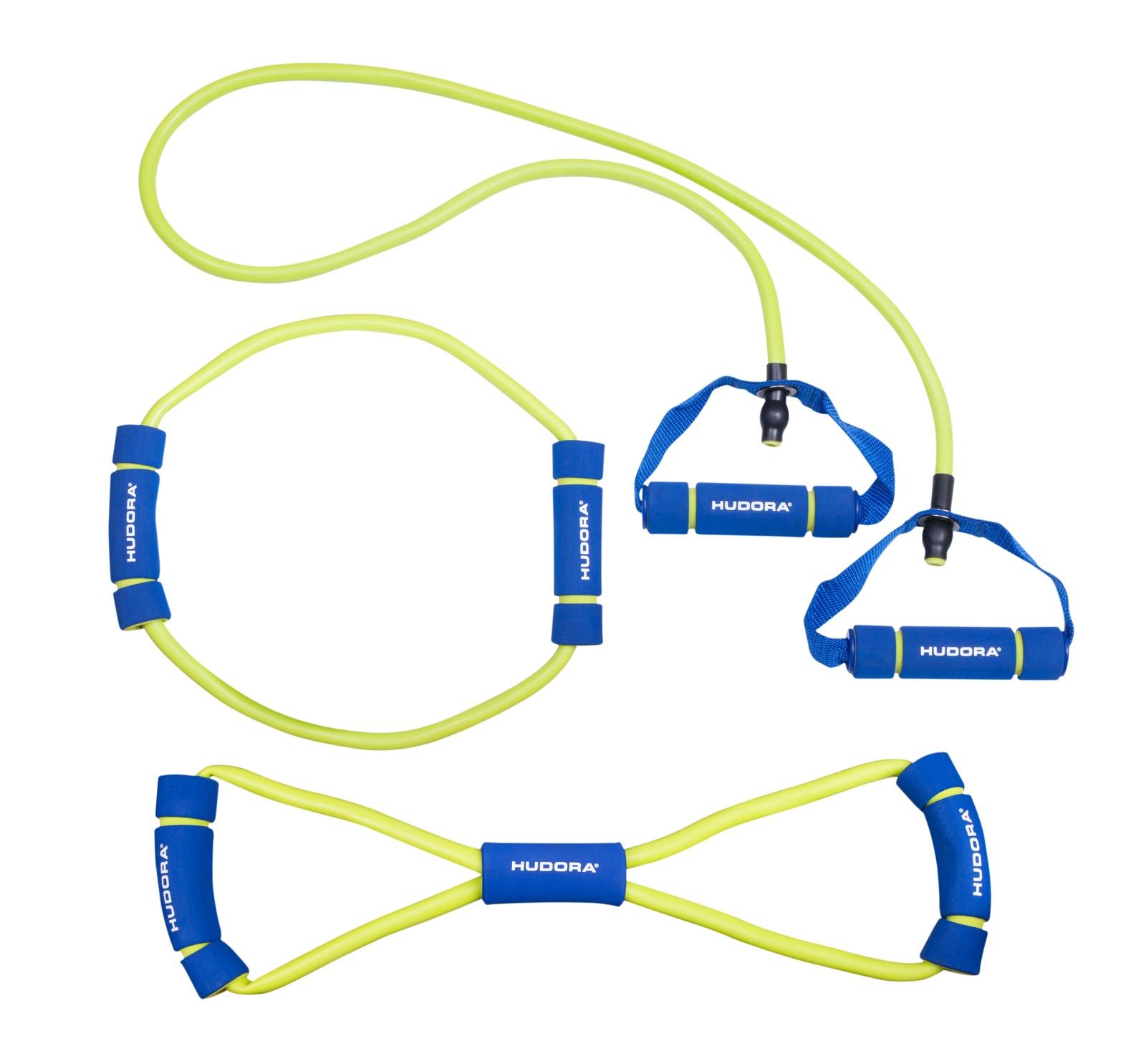Эспандер Hudora Fitness-Expanderset, синий, салатовый цена