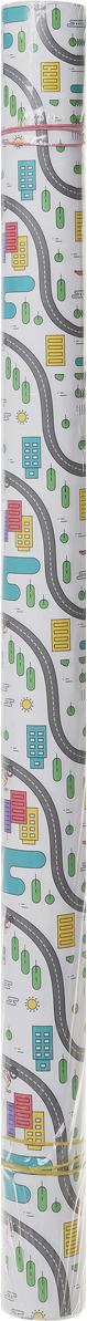 """Бумага упаковочная Miland """"Велосипедная"""", в рулоне, 10 листов в рулоне, 70 х 100 см"""