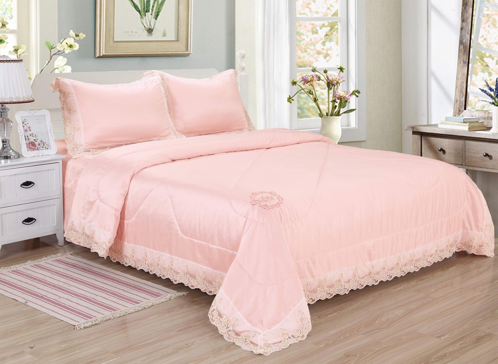 Комплект постельного белья Sofi de Marko Тиара Евро, розовый