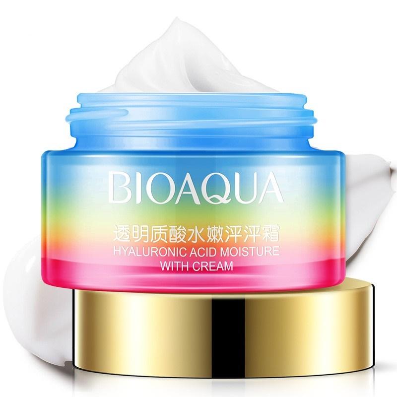 Крем для ухода за кожей BIOAQUA питательный крем лица с гиалуроновой кислотой и маслом жожоба, 50 гр.