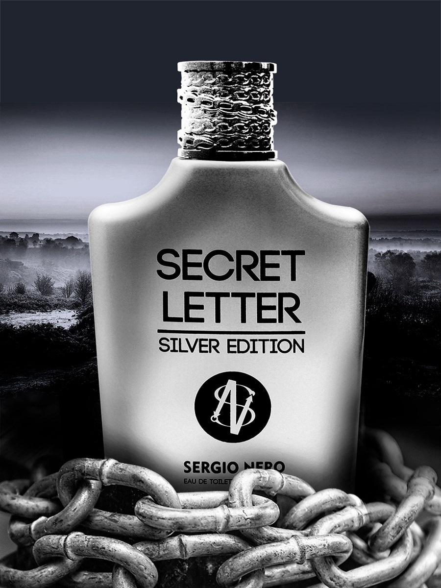 Туалетная вода Sergio Nero Secret Letter silver edition (edt) муж.100ml