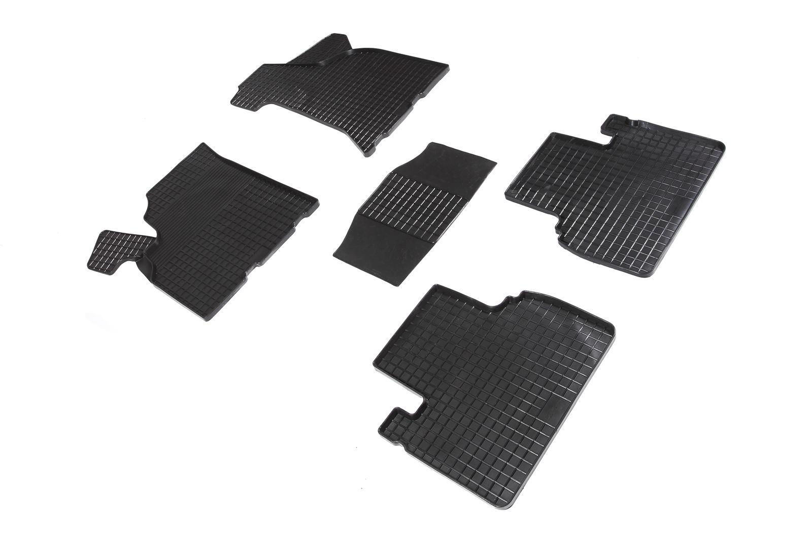 Коврики в салон автомобиля Seintex Резиновые коврики Сетка для Лада Приора 2007-2018 для автомобиля класса лада аккумулятора какой нужен
