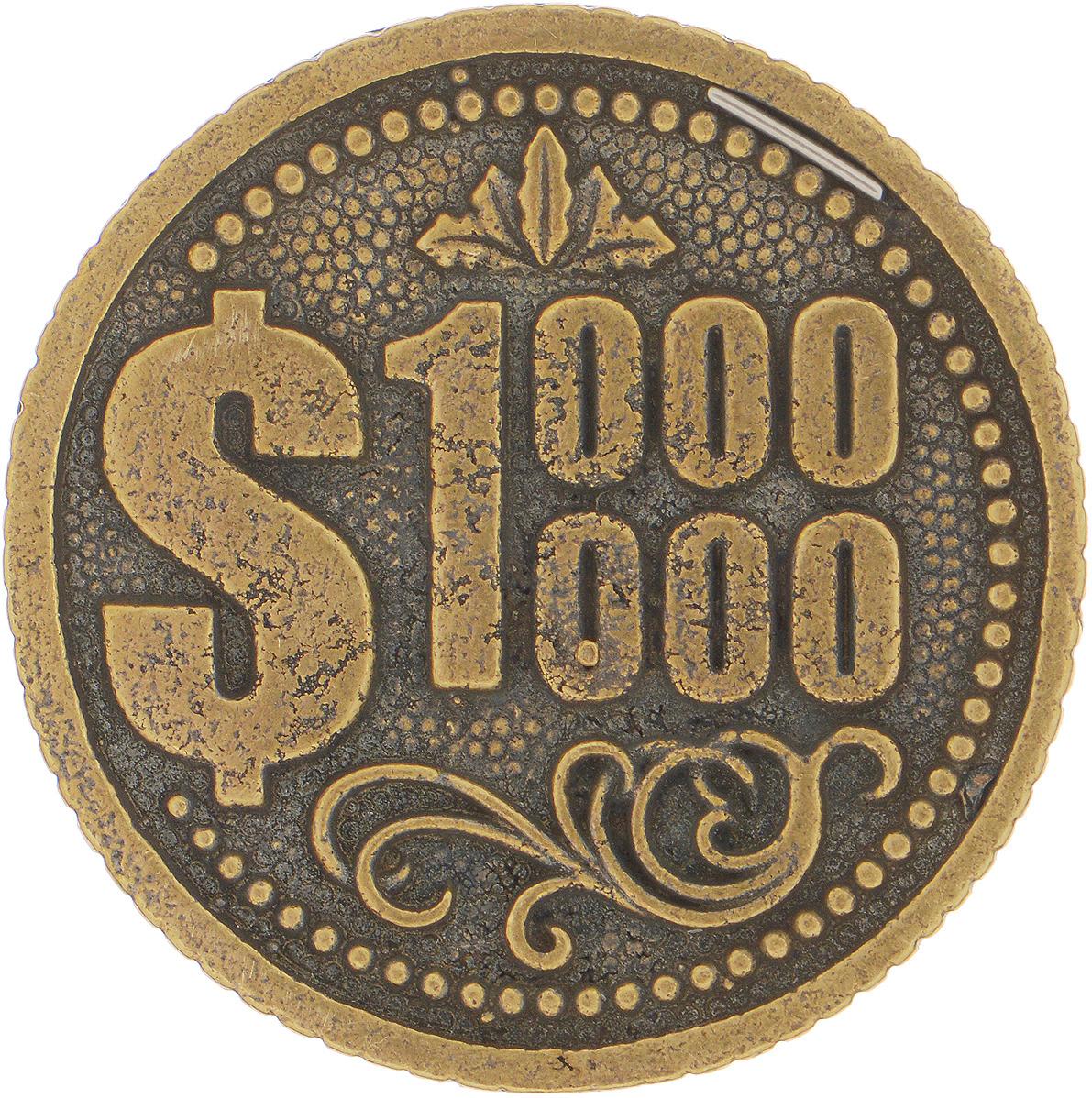 Денежный сувенир Miland Монета Миллион долларов, Т-3704, золотойТ-3704Представленные монеты, амулеты и обереги будут оберегать вас в сложных ситуациях и помогать в делах.