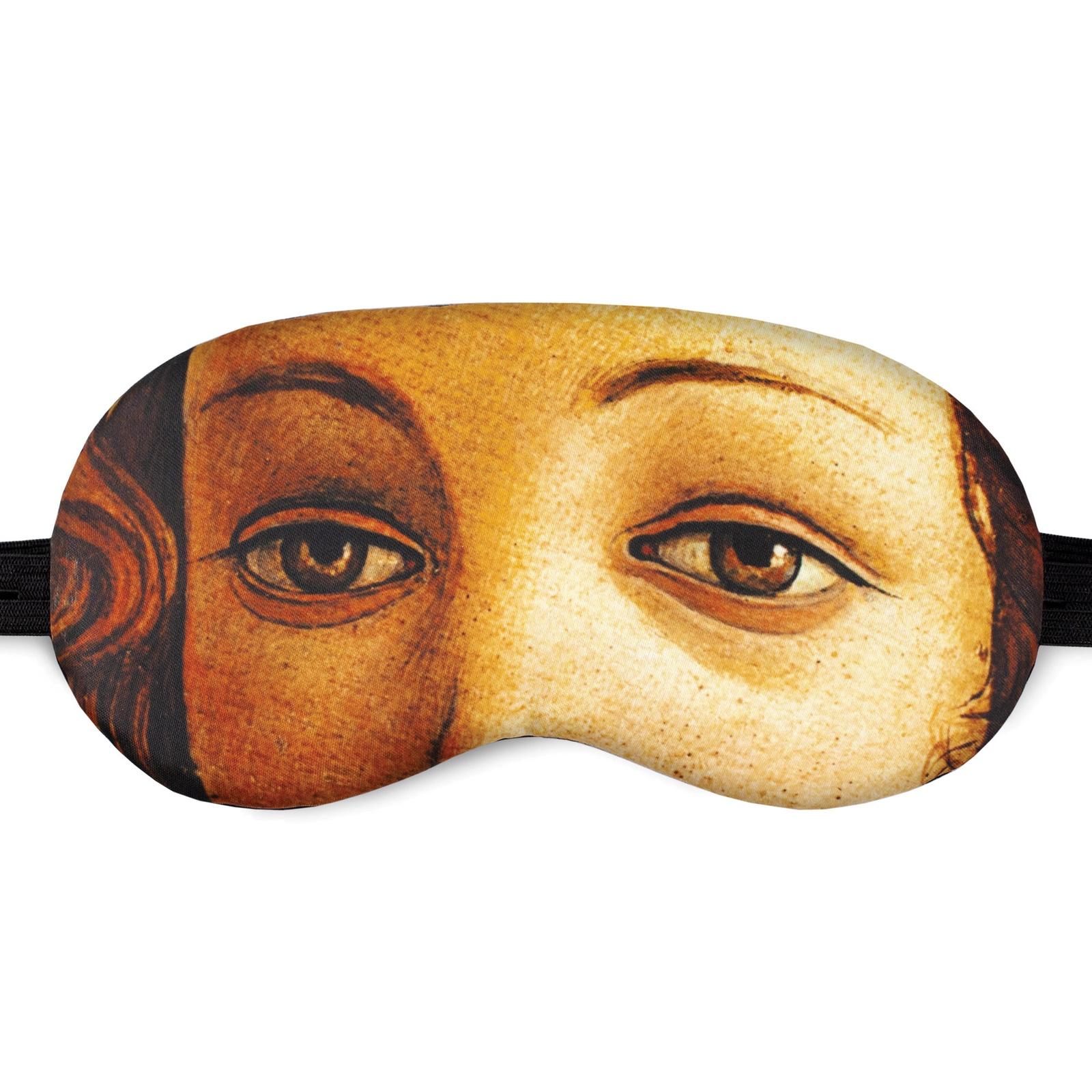 Маска для сна Shuba с изображением глаз героини картины Рождение Венеры (художник Сандро Боттичелли) в пластиковой упаковке fotoniobox лайтбокс боттичелли рождение венеры 25x25 139