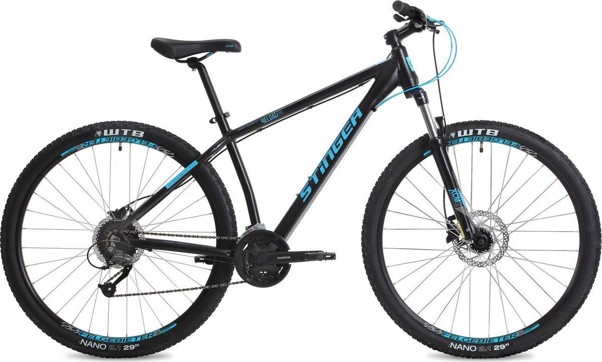 """Велосипед горный Stinger Reload Pro, колесо 29"""", рама 22"""", 29AHD.RELOADPRO.22BK8, черный"""