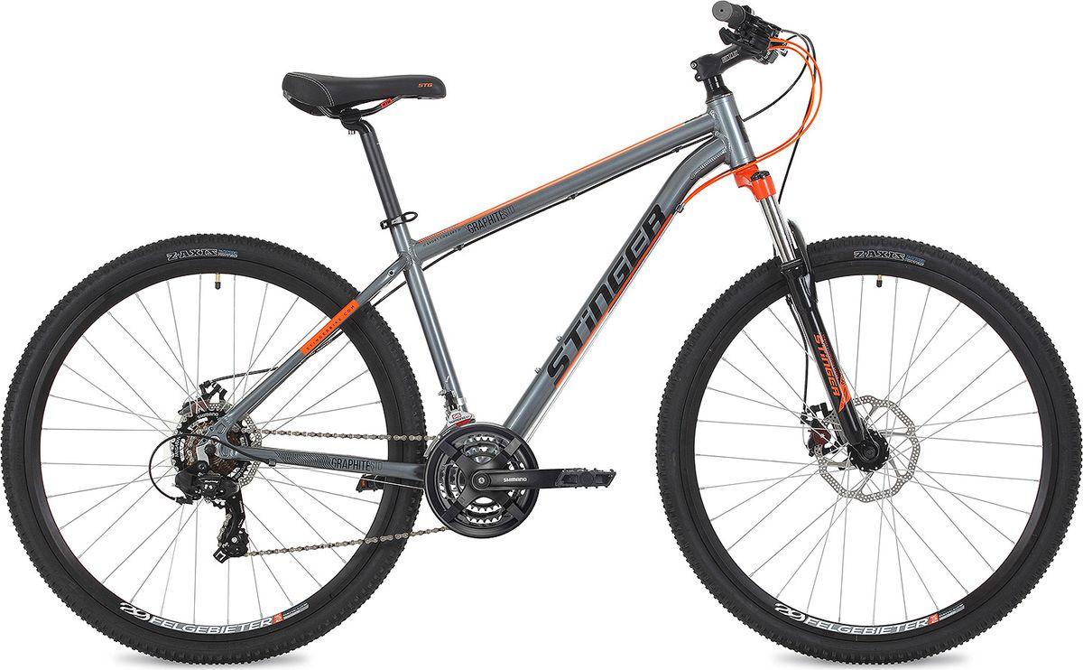 """Велосипед горный Stinger Graphite Std, колесо 29"""", рама 20"""", 29AHD.GRAPHSTD.20GR9, серый"""