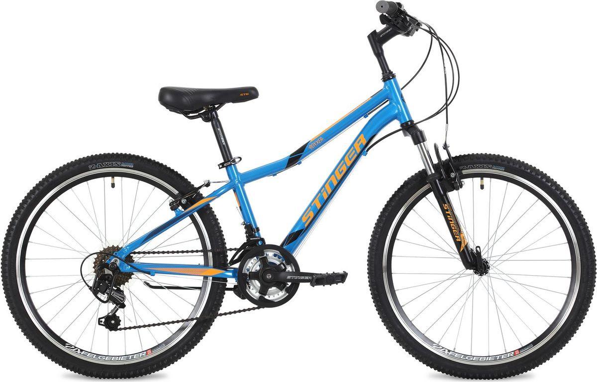 Велосипед горный Stinger Boxxer, колесо 24, рама 14, 24AHV.BOXX.14BL8, синий