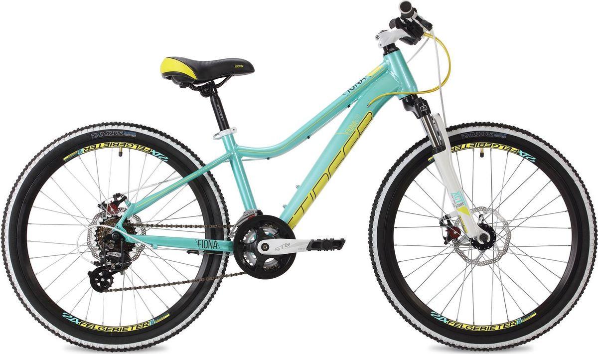 Велосипед горный Stinger Fiona Std, колесо 24, рама 12, 24AHD.FIONASTD.12GN8, белый stinger stinger велосипед fiona kid 20