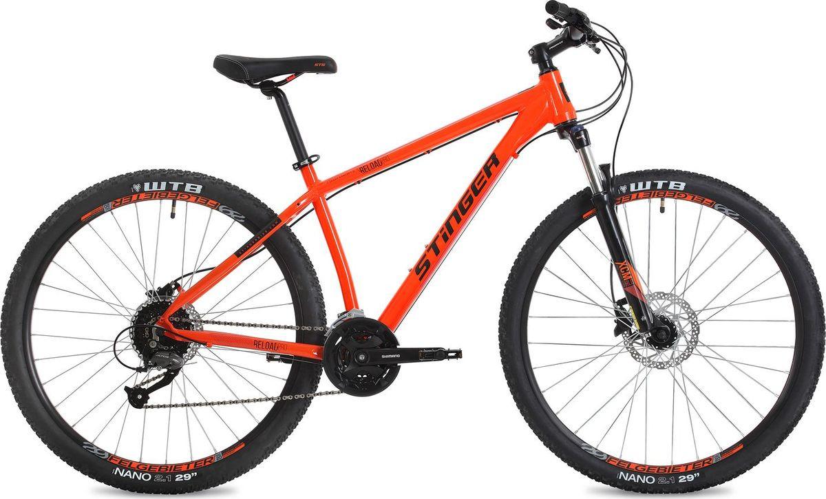 """Велосипед горный Stinger Reload Pro, колесо 29"""", рама 18"""", 29AHD.RELOADPRO.18OR8, оранжевый"""