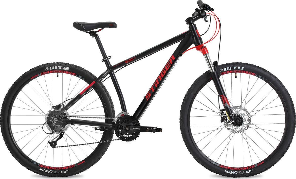 Велосипед горный Stinger Reload Evo, колесо 29, рама 18, 29AHD.RELOADEVO.18BK8, черный