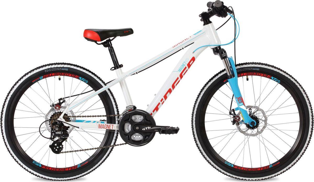 Велосипед горный Stinger Magnet Std, колесо 24, рама 14, 24AHD.MAGNESTD.14WH8, белый