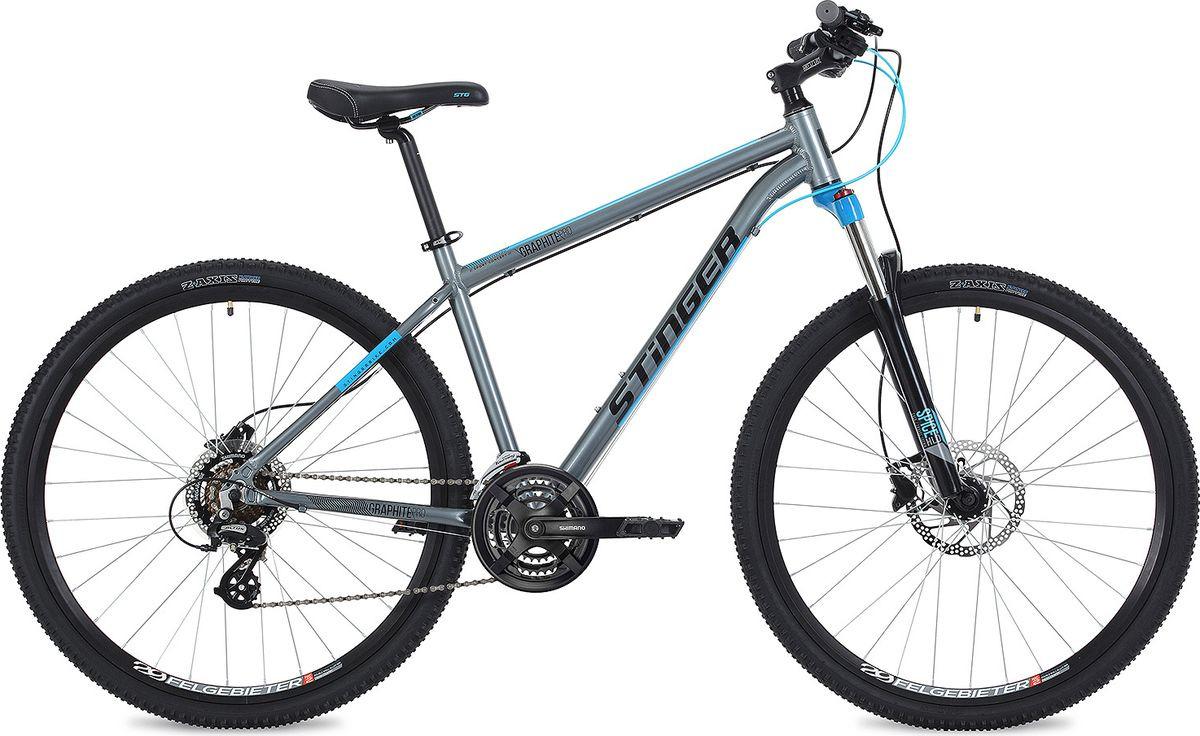 Велосипед горный Stinger Graphite Evo, колесо 29, рама 22, 29AHD.GRAPHEVO.22GR9, серый