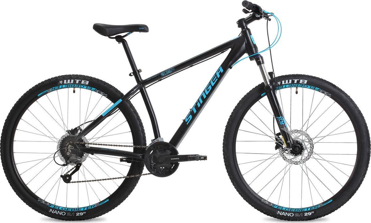 """Велосипед горный Stinger Reload Pro, колесо 29"""", рама 18"""", 29AHD.RELOADPRO.18BK8, черный"""