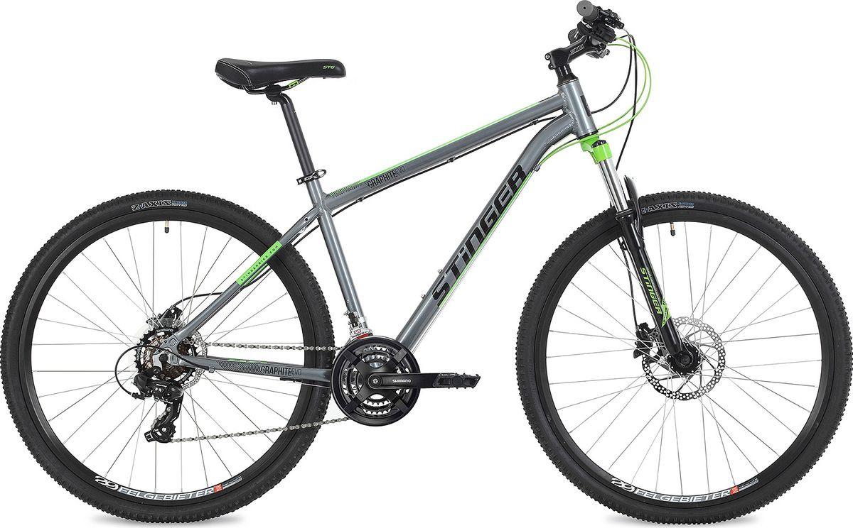 Велосипед горный Stinger Graphite Evo, колесо 27.5, рама 16, 27AHD.GRAPHEVO.16GR9, серый