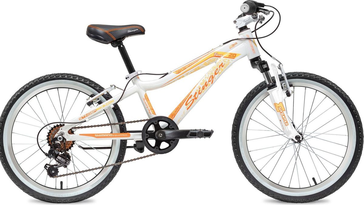Велосипед детский Stinger Fiona, колесо 20, рама 10, 20AHV.FIONA.10WH8, белый вилка амортизационная suntour гидравлическая для велосипедов 26 ход 100 120мм sf14 xcr32 rl 26