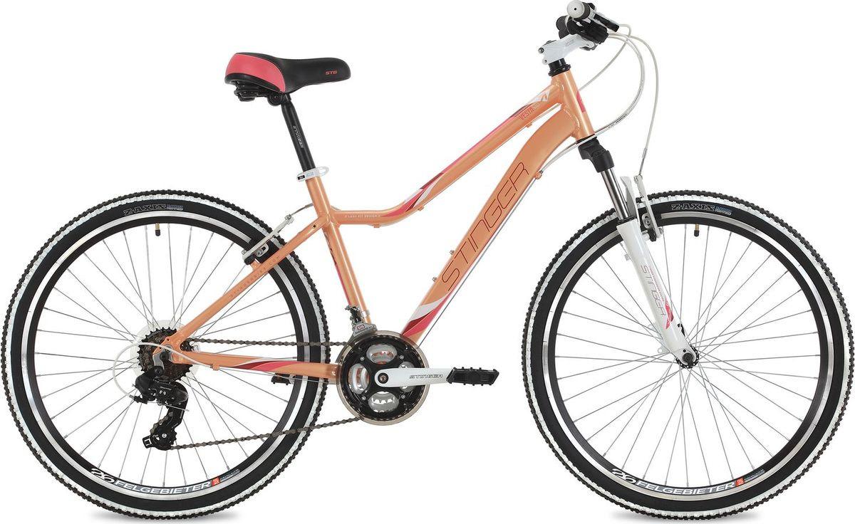 Велосипед горный Stinger Vesta Std, колесо 26, рама 15, 26AHV.VESTASTD.15PK8, розовый
