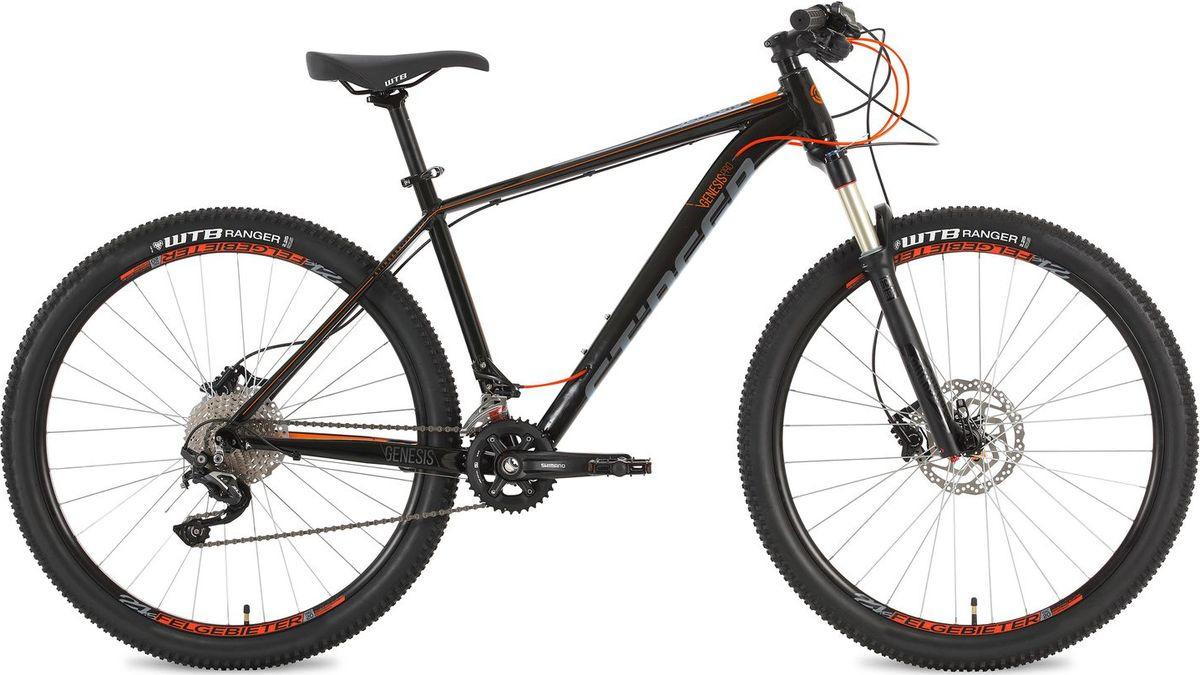 """Велосипед горный Stinger Genesis Pro, колесо 27.5"""", рама 16"""", 27AHD.GENESPRO.16BK8, черный"""