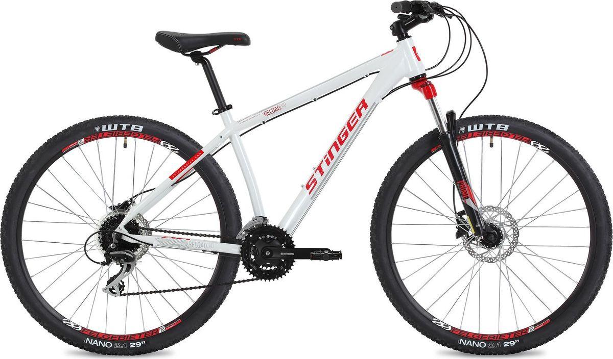 Велосипед горный Stinger Reload Evo, колесо 29, рама 18, 29AHD.RELOADEVO.18WH8, белый