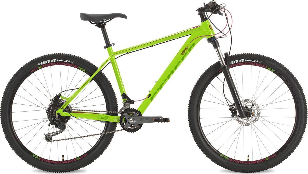Велосипед горный Stinger Genesis Evo, колесо 27.5, рама 16, 27AHD.GENESEVO.16GN8, зеленый