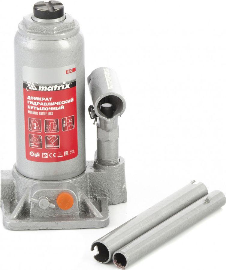 Бутылочный домкрат Matrix, 50762, 3 т, высота подъема 178-343 мм