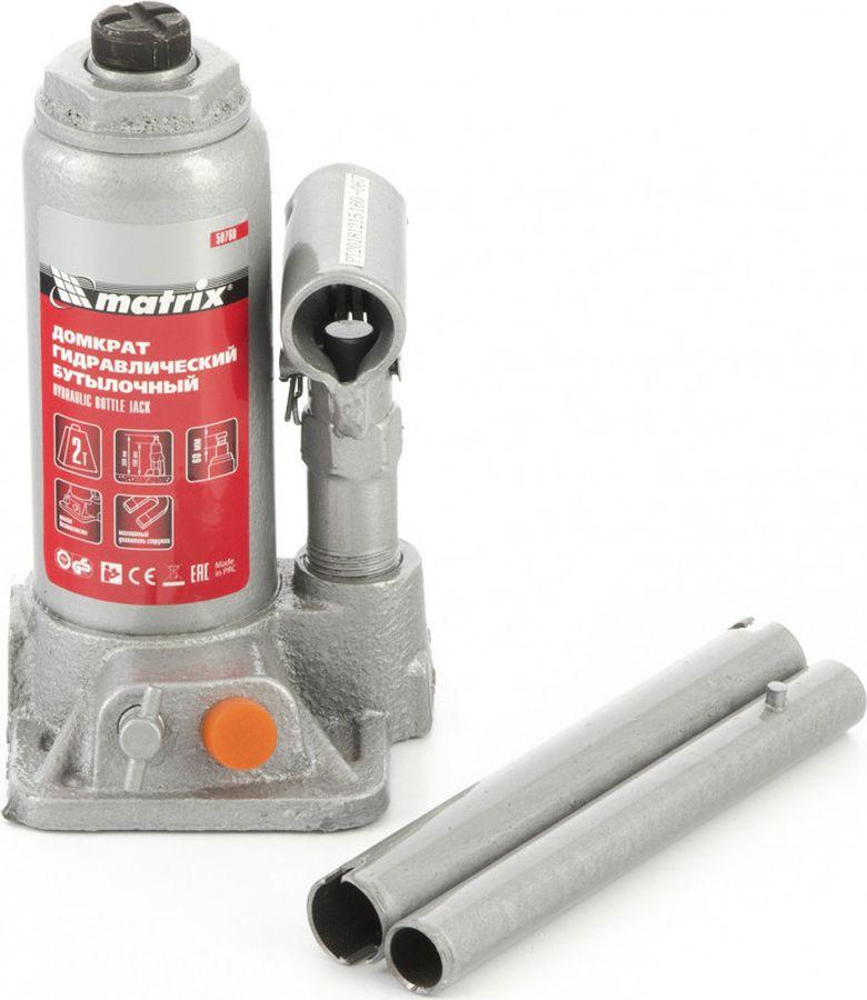 Бутылочный домкрат Matrix, 50760, 2 т, высота подъема 158-308 мм