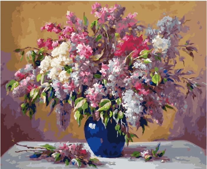 Картина по номерам (40х50) Сирень в вазе GX24783 цена в Москве и Питере