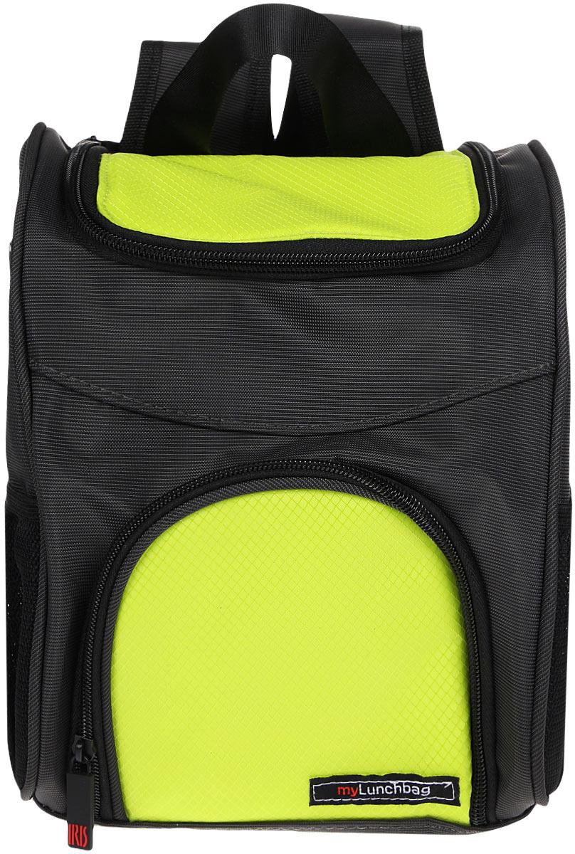 Терморюкзак для ланч-бокса Iris Barcelona Traveller MyLunchbag, цвет: темно-серый, салатовый термосумка для ланч бокса iris barcelona basic mylunchbag цвет оранжевый