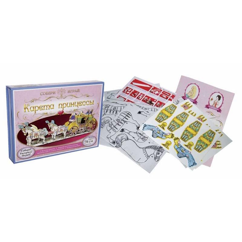 Бумажный конструктор Маэстро Сборная модель Карета принцессы