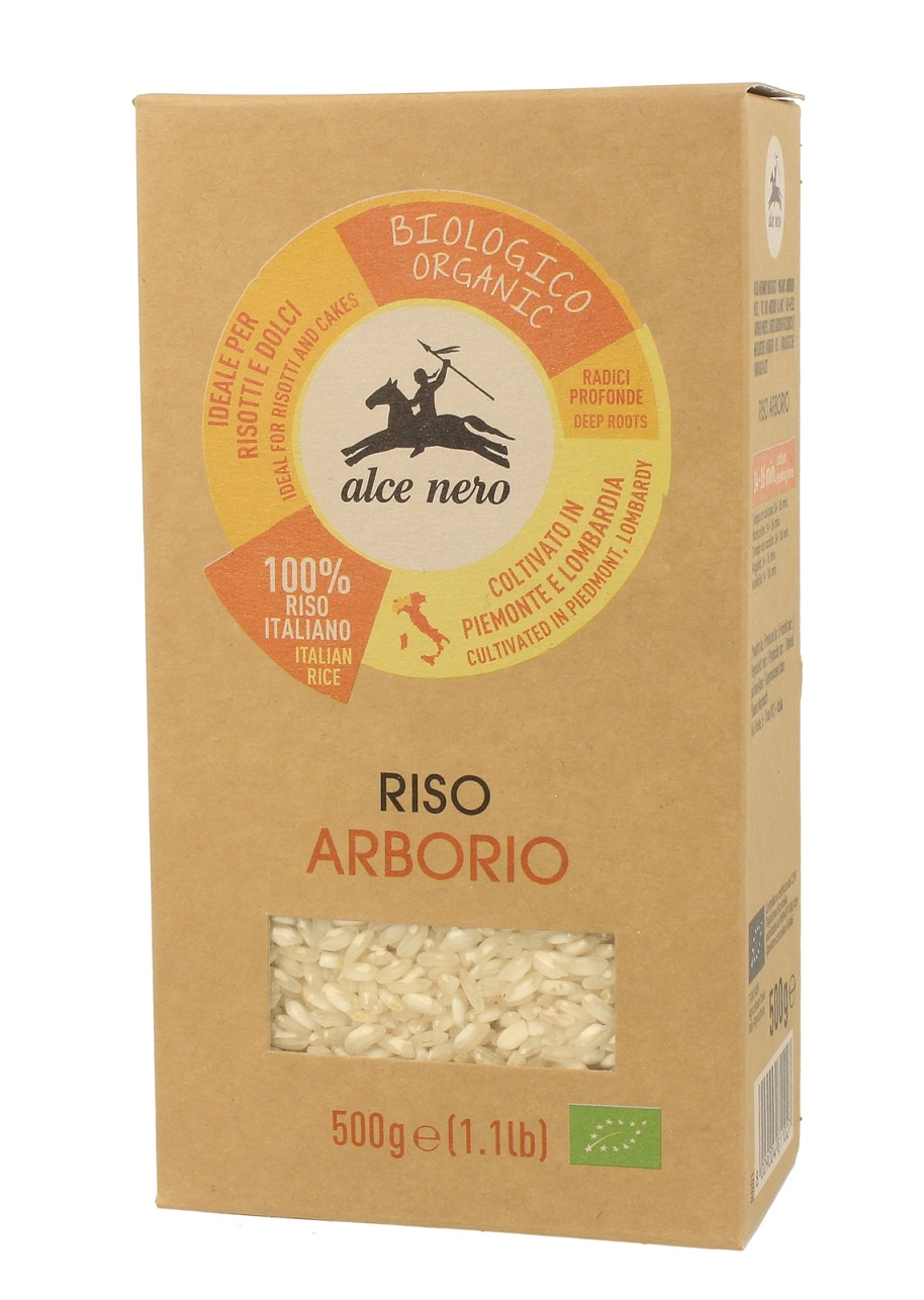 Рис Alce Nero RI453, 500 riso nuvola арборио рис 1 кг