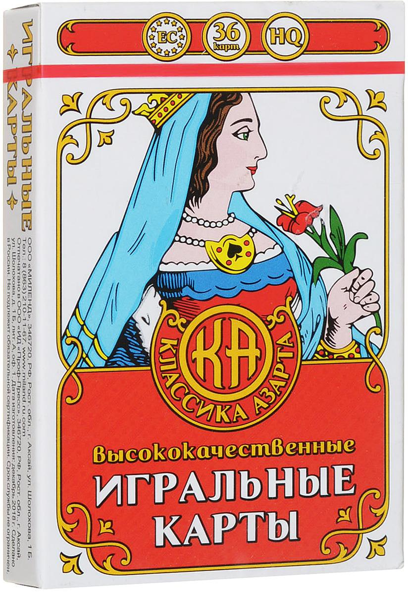 Игральные карты Miland Классика Азарта, ИН-1755, 36 шт