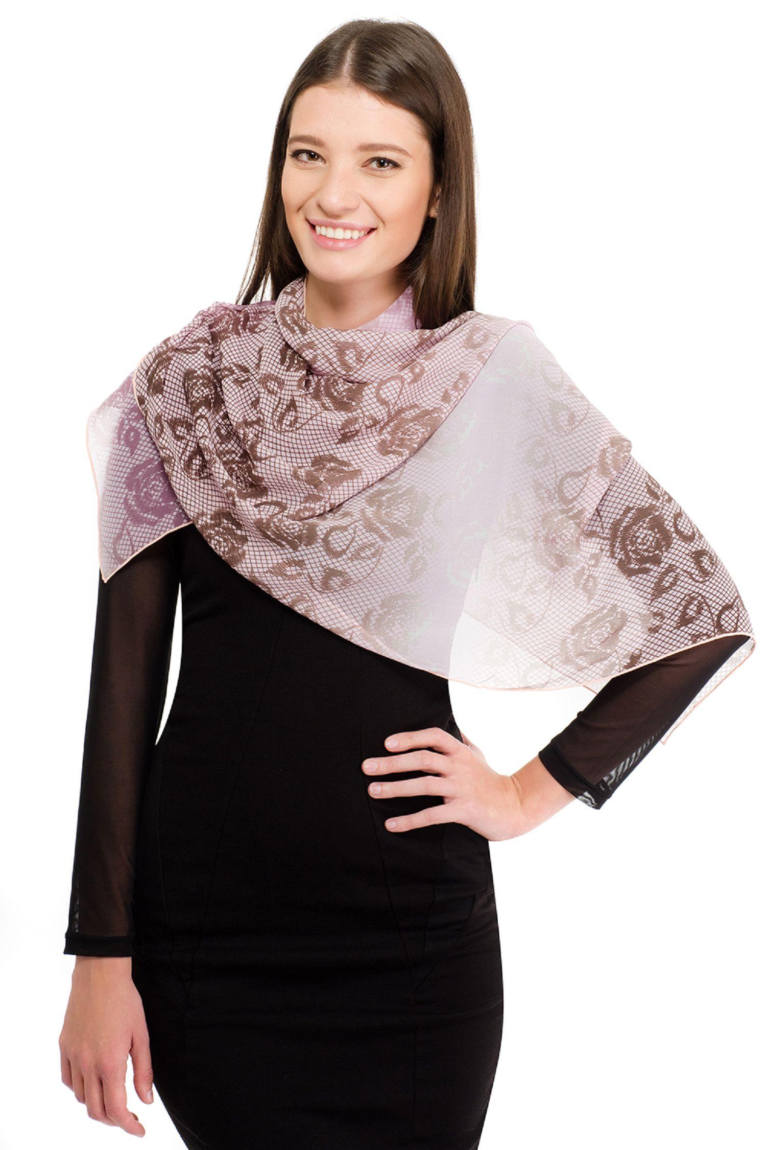 Шарф Laccom розовый шарф с принтом